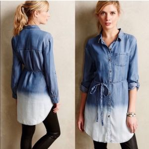 Anthropologie Holding Horses denim ombré tunic M